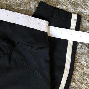Athleta Pants - Athleta Metro 7/8 Tight Black White Stripe Pant L
